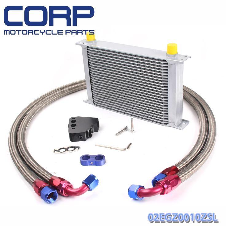 57.89$  Watch here - Universal 25 Row JDM Engine Oil Cooler Kit + Sandwich Plate For BILLET LS1 LS2  #buyonlinewebsite