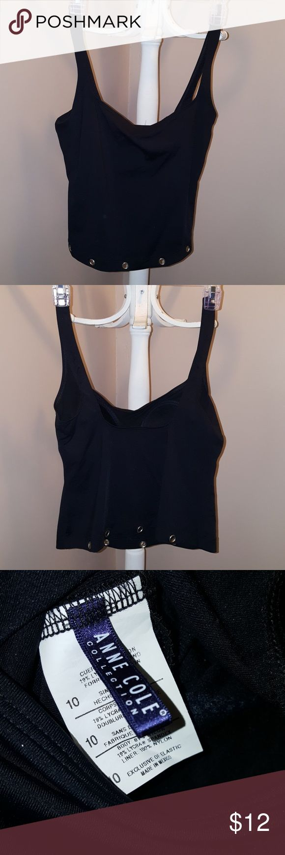 Anne Cole Tankini Top Anne Cole Tankini Top with Silver rivets Anne Cole Swim One Pieces