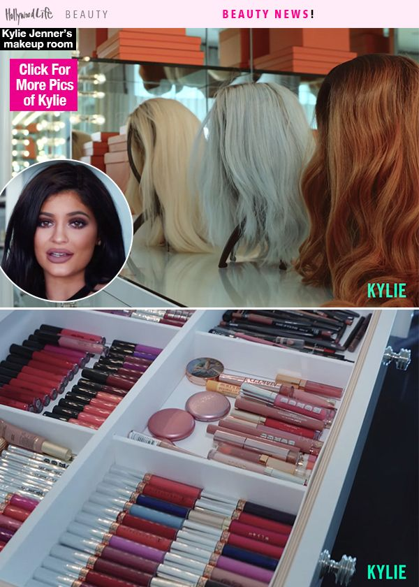 Inside kylie jenner s glam room see where she gets red for Kylie jenner room tour