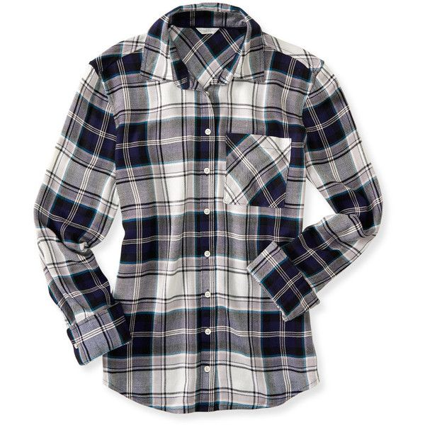 Aeropostale Long Sleeve Plaid Woven Shirt ($34) ❤ liked on Polyvore featuring tops, persian navy, long sleeve woven shirt, aeropostale shirts, navy shirt, long sleeve shirts and button shirts