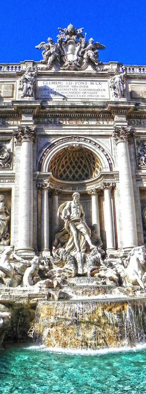 Fontana di Trevi, Rome, Italy -- Definitely one of my favorite attractions we visited in Rome!