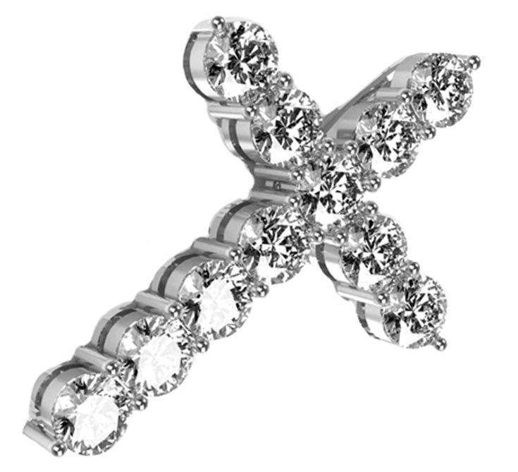 Роскошный бриллиантовый подвес – украшение, которое сделает Вас счастливой. Дорожка из драгоценных камней блестит так ярко и так красиво. Золотой крест станет достойным талисманом. Не просто красивое изделие, но и мощный оберег. Предлагаем Вашему вниманию другие украшения ювелирного бренда Nico Juliany.
