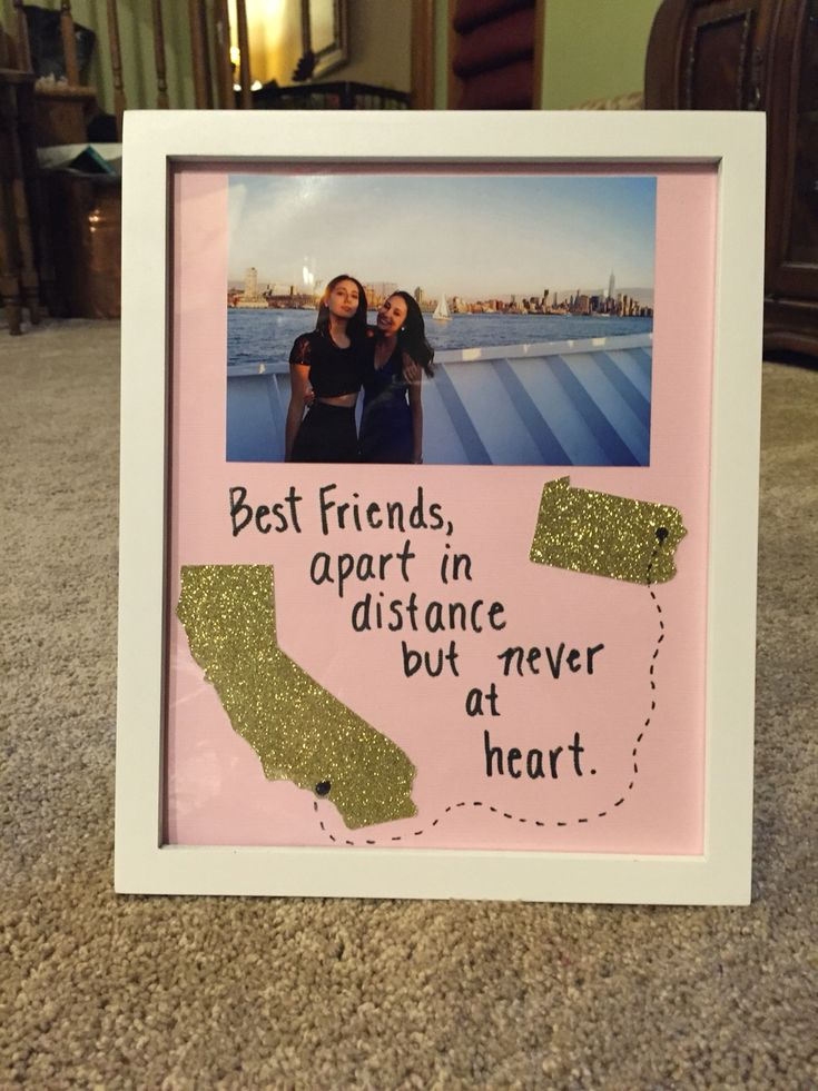 Long distance friendship picture frame (: