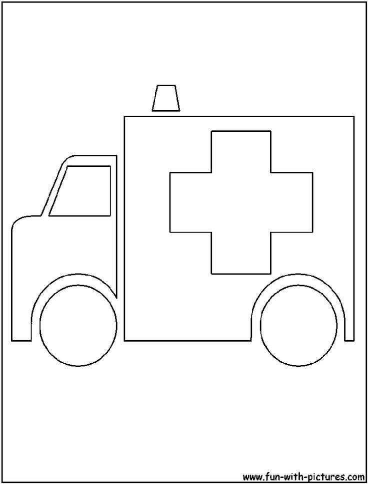 ambulance coloring pages ambulance cutout coloring page coloring pages pinterest ambulance