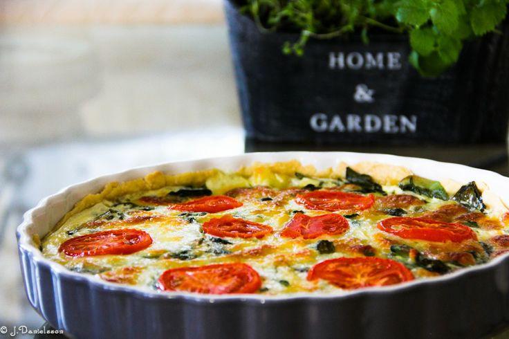 Tomat & Ruccolapaj!  #tomatochruccolapaj #paj #slankosund #recept #tomat #ruccola
