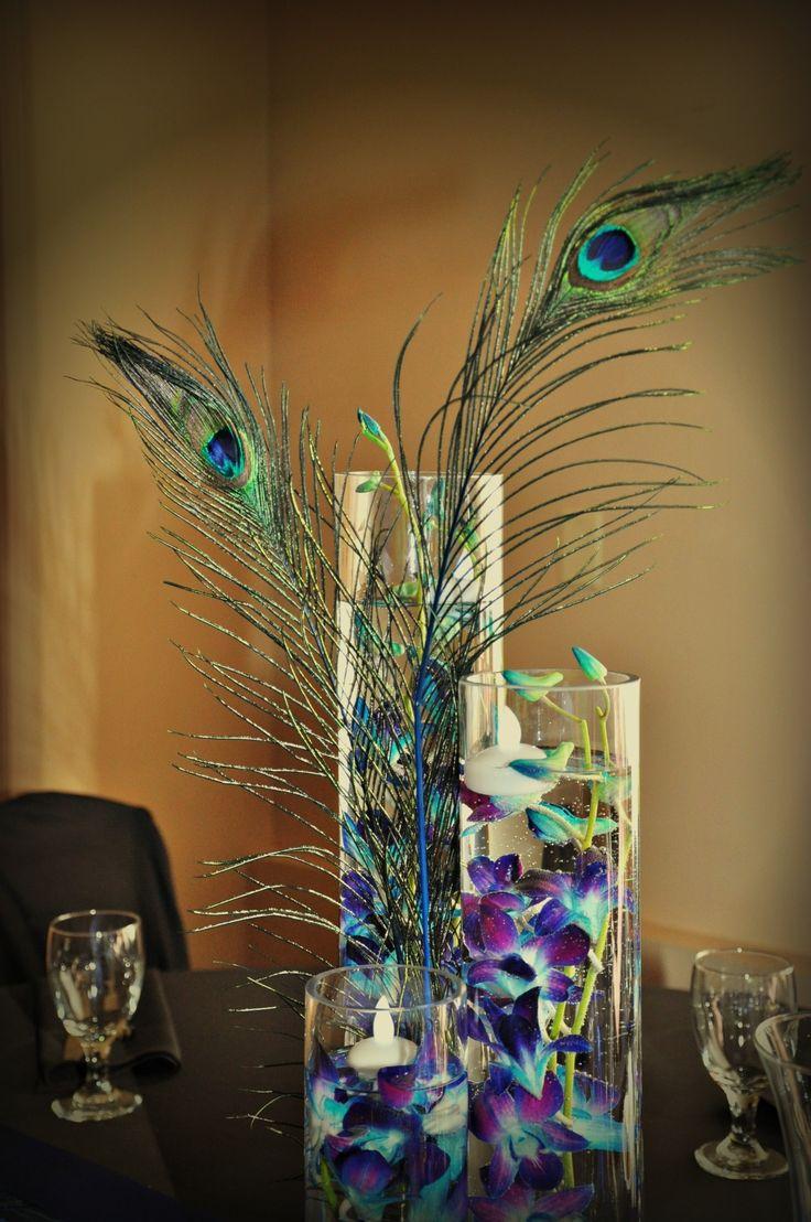 Wedding Centerpiece Peacock