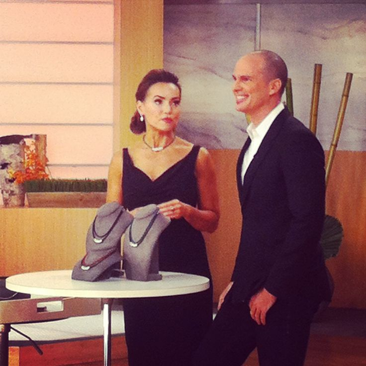 On air with my good friend Lisa Robertson.  Nothing like live TV. #qvc #jewelry