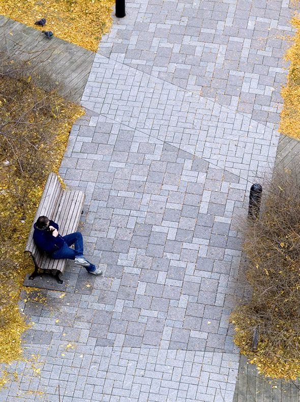 Place d'Youville in Montréal (Canada). By Claude Cormier Associés.