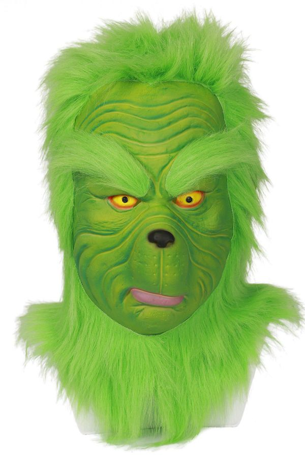 34d512157c0 Santa Grinch Cosplay Costume How The Grinch Stole Xmas Suit Helmet Outfit  Adult  Costume Stole Cosplay