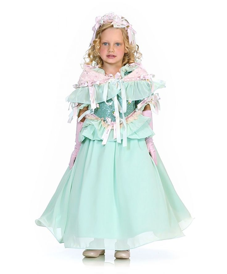 Карнавальный костюм золушки голубого цвета: платье, накидка, головной убор, перчатки (Италия). Купить http://fas.st/YYCQEG