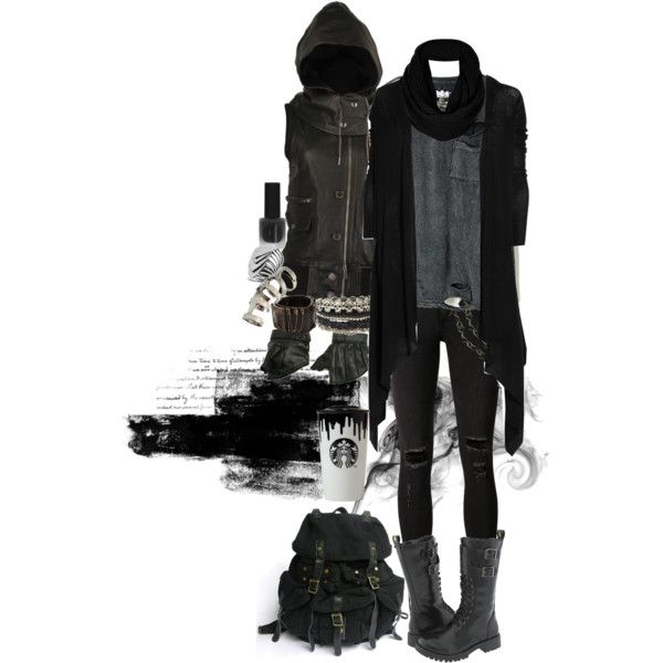 Simplistic Grunge 2, created by morbid-octobur on Polyvore