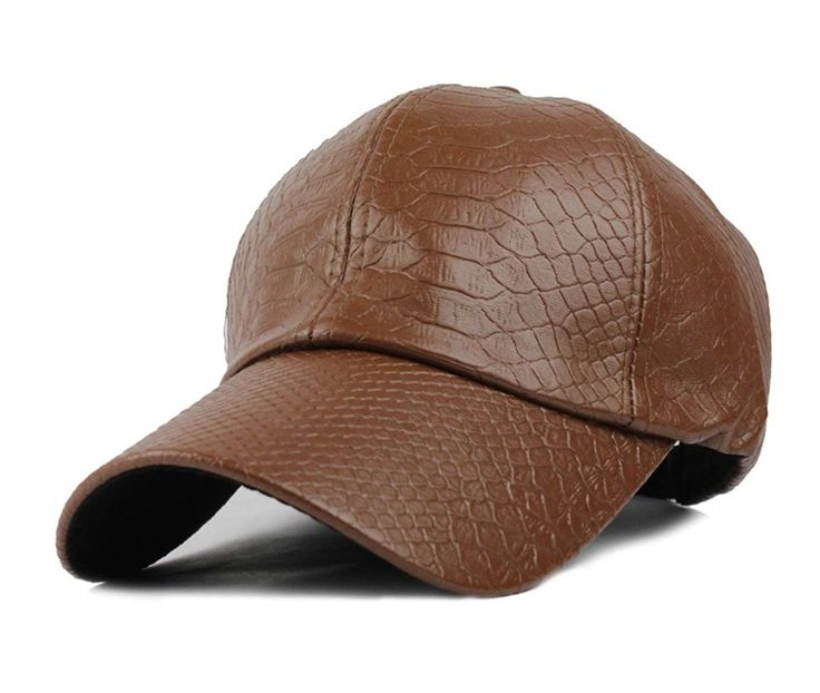 Brown vegan leather hat....