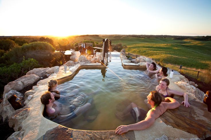 Stay at our beautiful accommodation on the Mornington Peninsula and check out the fantastic Peninsula Hot Springs.  book online:  oceanbluecoastalretreats.com.au