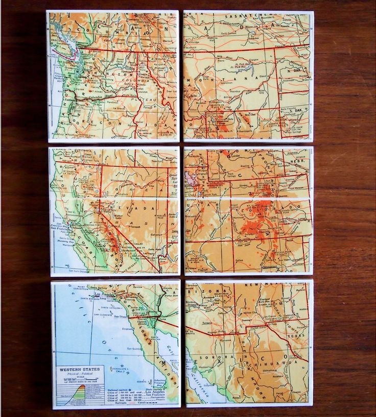 Road Map Of Project%0A Best     Map coasters ideas on Pinterest   Map with pictures  Coasters and  Map crafts