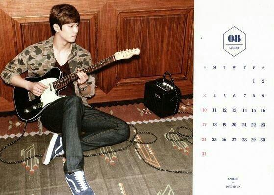 CNBLUE Calendar 2014 August