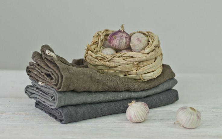LINEN TEA TOWELS. frost grey / mushroom brown / grey by KnockKnockLinen on Etsy https://www.etsy.com/listing/220214421/linen-tea-towels-frost-grey-mushroom
