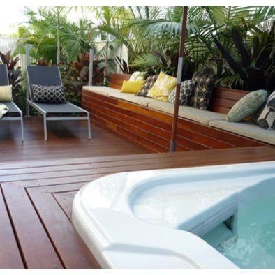 Hot Tubs Built Into Deck Google Search Hot Tubs Hot