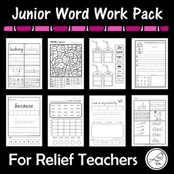 Are you looking for a few activity sheets for working with junior students? This pack contains a selection of resources that I sell in individual larger packs. 10 different activities. 3 sheets for each activity. Sight Word Activity Sheets 3 activity sheets for