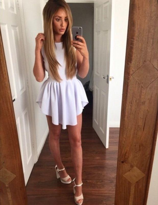 charlotte crosby white dress - Google Search
