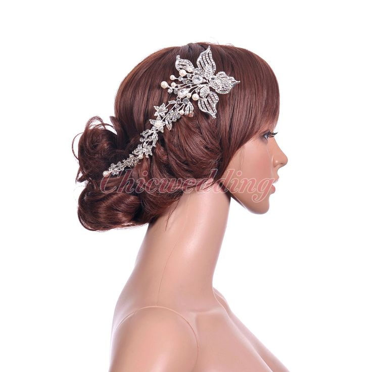 Lavishly Styled Flower Tiara Crystal Pearl Headband Hair Clip Party Headpiece  #Headband