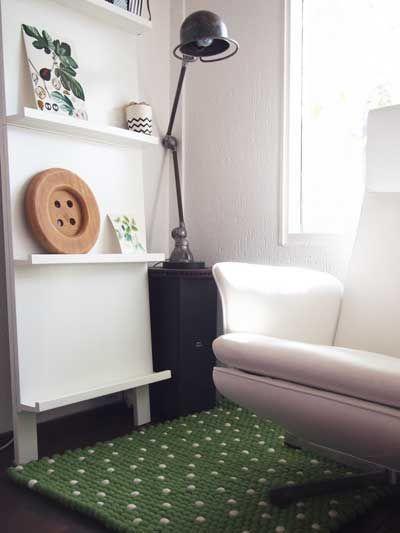 prominent-stoel-vilt-vloerkleed-groen