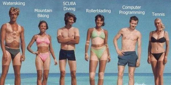 Funny Sunburns!