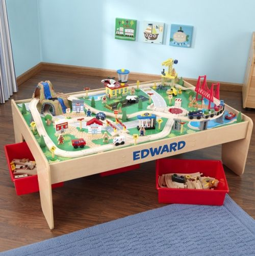 Waterfall mountain train table set kid kraft on sale for Table playmobil