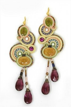 Dori Csengeri earrings. imported from Israel. You can find them at the Diva Boutique in Annapolis.