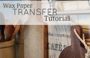 Fácil y económica transferir cualquier imagen utilizando este Papel de cera Imagen Tutorial transferencia !!