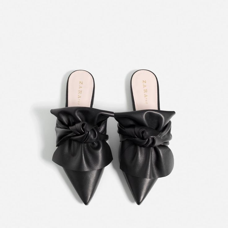 LEATHER SLIDES WITH BOW-View all-SHOES-WOMAN-COLLECTION AW16   ZARA Germany
