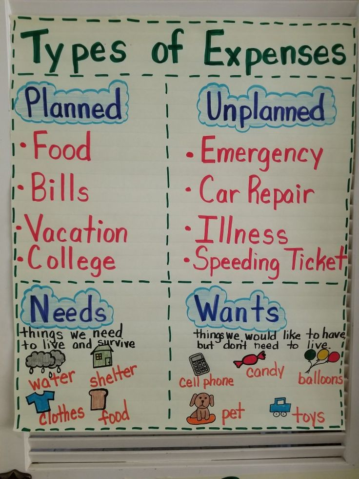 13 best third grade financial literacy images on pinterest financial literacy types of expenses fandeluxe Images