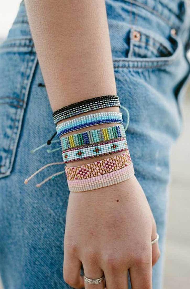 Bracelet - Bracelet En Tissu Papier Par Vida Vida YDz2hEGoU