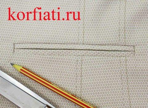 Прорезной карман в рамку мастер-класс - карман в готовом виде