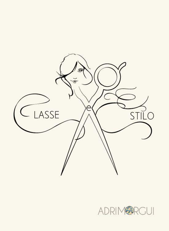 Logomarca para salão de beleza. Por: Adriana Guimarães.