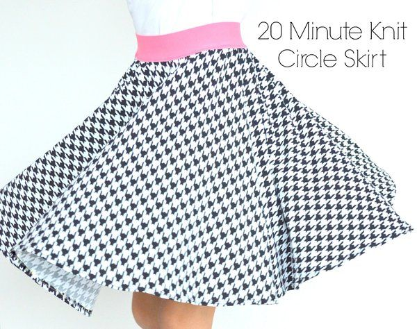 Riley Blake Designs Blog: 20 Minute Knit Circle Skirt #rileyblakedesigns #waistbandelastic #circleskirt @danawillard