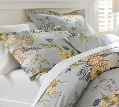 nautilus floral organic duvet cover