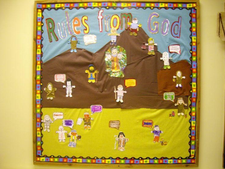 Church Bulletin Board For The Ten Commandments / Moses