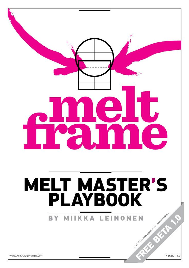 Melt master's playbook  How to use the Melt Frame. Step-by-step instructions. BETA version (typos and inconsistencies).