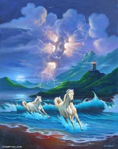 Jim Warren Studios Fine Art - White Lightning