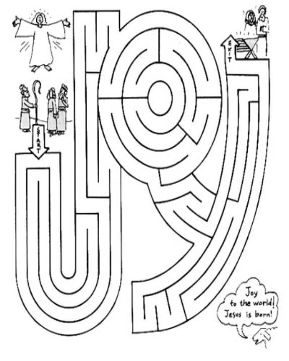 JOY Maze Jesus Pinterest Maze Births And Christmas
