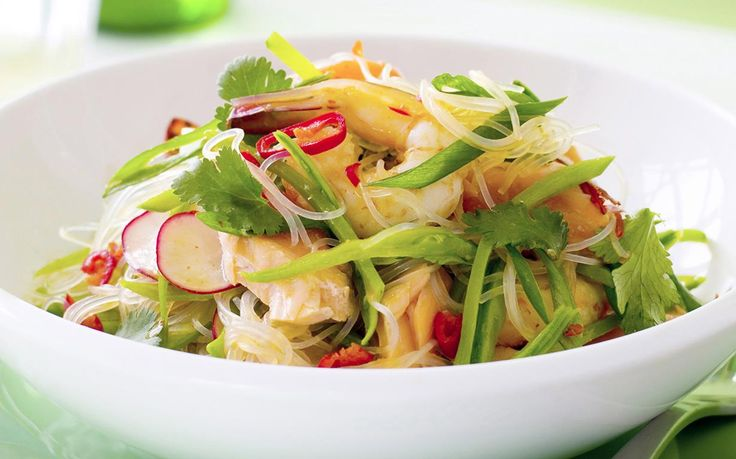 Take a trip to Bangkok with this fresh Thai-style salad, bursting with flavours of lemongrass, chilli sauce and chunks of tender seafood. Recipe by the Australian Women's Weekly.