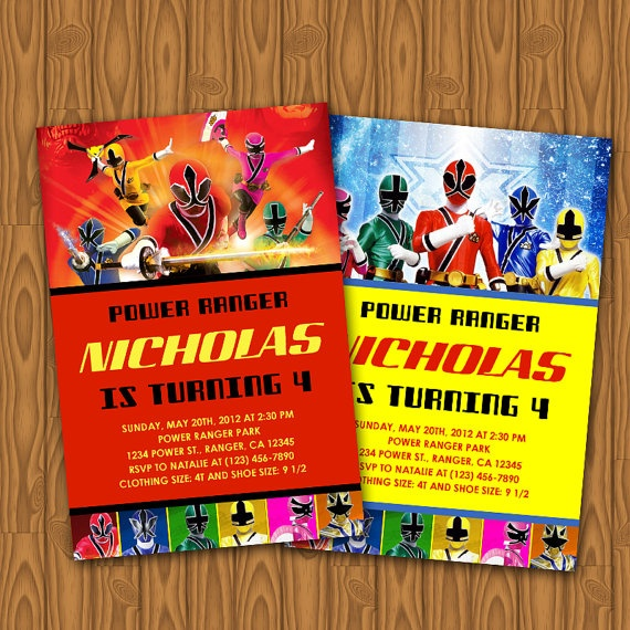 11 best images about Power Ranger Party – Power Ranger Party Invitations