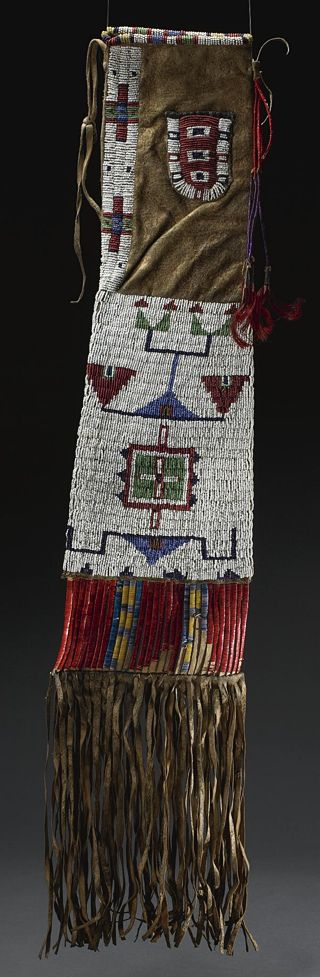 Sioux Beaded Hide Pipe Bag  --  No date provided.  Via Sotheby's