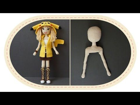 Девушка Пикачу крючком, часть 7 (Каркас). Crochet Pikachu girl, part 7 (Skeleton). - YouTube