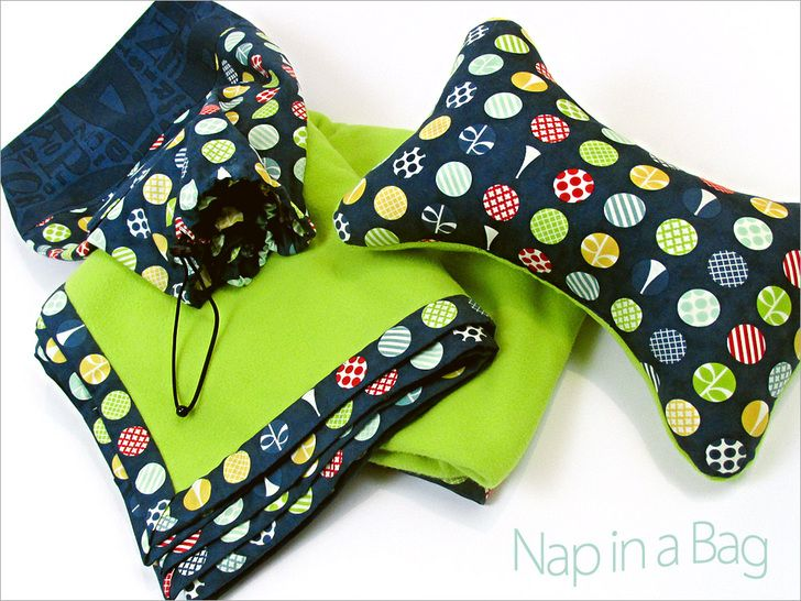 Nap in a Bag: Blanket & Pillow in a Matching Bag