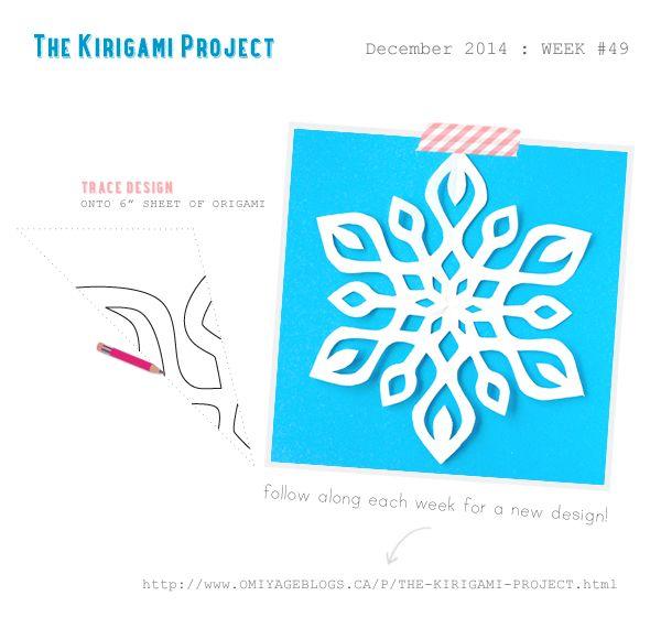 Omiyage Blogs: The Kirigami Project - Week 49 - Graceful Snowflake