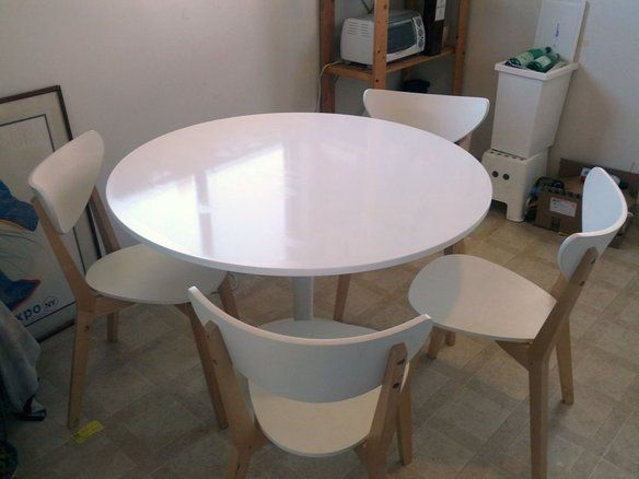 Ikea Docksta Dining Table With 4 Nordmyra Chairs — Fixed price $200