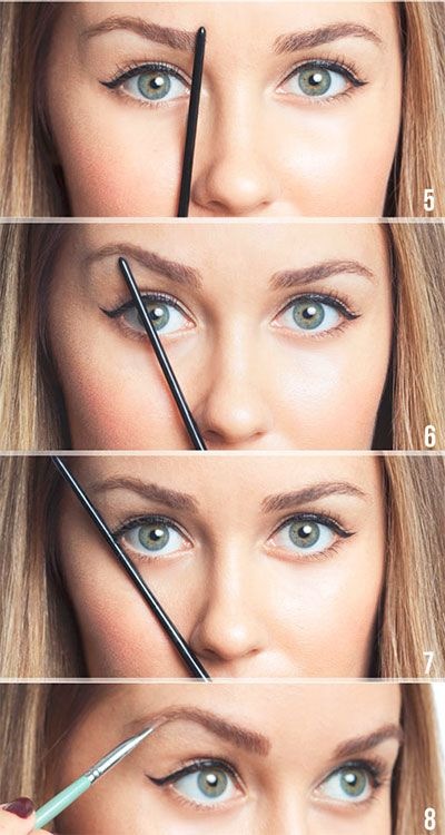 Lauren Conrad knows exactly how to shape her brows - line your pencil up with your nose, #BeautyHacks