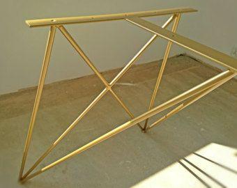 steel table legs – Etsy, #tablebase, #tablelegs, #coffeetable