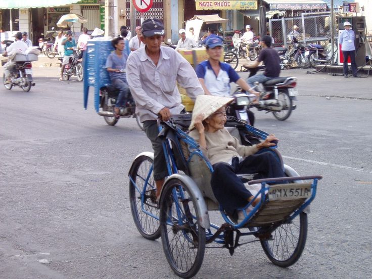 Rickshaw taxi - Saigon, Vietnam